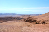 Fragment of the Judean desert near the Arad
