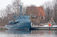 Old minesweeper in Baltiysk