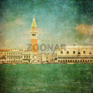 Vintage image of Venice, Italy