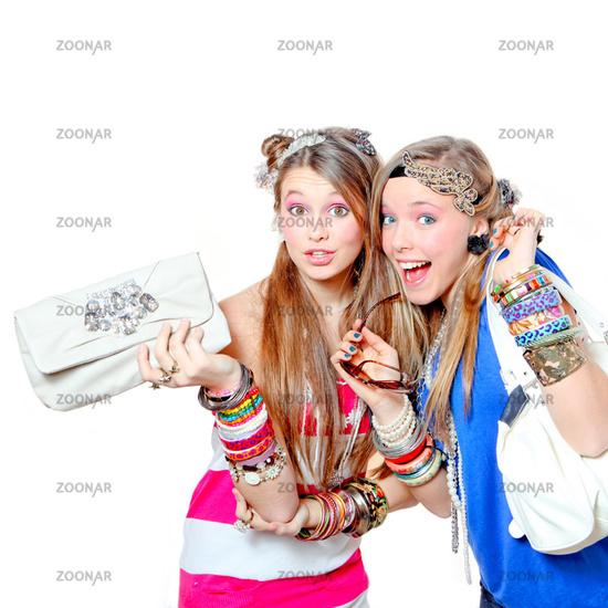 happy smiling fashionable teens