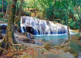 Thailand jungle waterfall