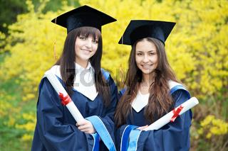 happy graduation students