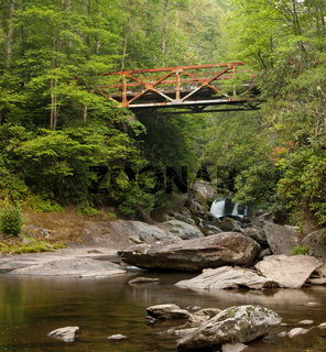 Old Iron Bridge over Forest River