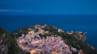 Panorama of Taormina during the blue hour