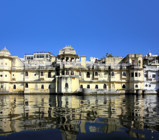 palace and lake in Udaipur India