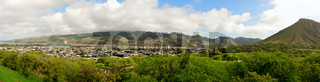 Panorama of the Island of Oahu