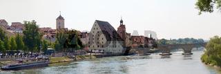 Unesco Welterbe: Regensburg mit steinerner Brücke