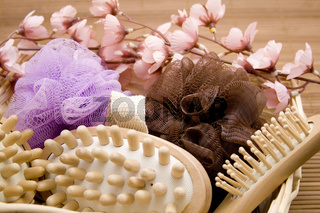 Massagebuerste und Haarbuerste
