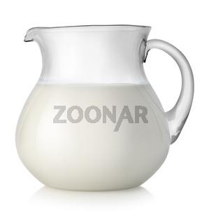 Milk in a glass jar