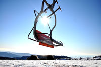 Gondel von einem Skilift auf dem Olympus in Zypern