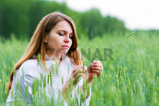 Young woman in a field