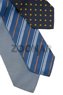 Closeup of three ties
