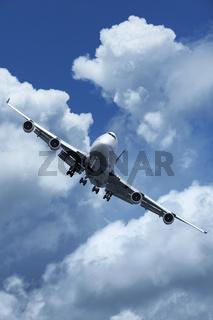Jet plane is meneuvering in a sky