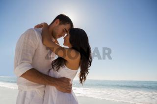 Romantic couple embracing
