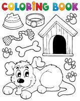Coloring book dog theme 2 - picture illustration.