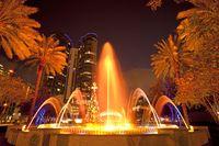 Brunnen Las Olas Fountain in der Innenstadt von Fort Lauderdale
