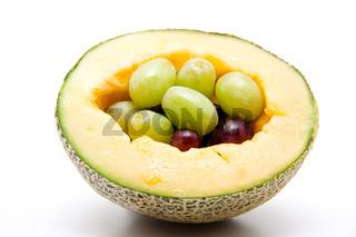 Wein Trauben in Melone