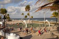Basketball am Strand von Fort Lauderdale
