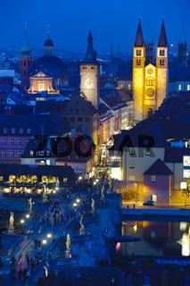 Stadt Würzburg mit Mainbrücke
