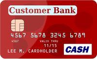 Rote Kreditkarte