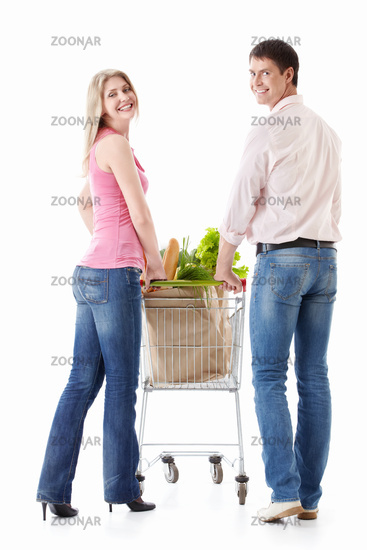 Couple with shopping