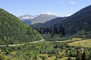 Landscape near the Tunnel of Vielha