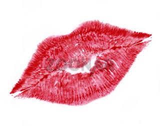 red lip print