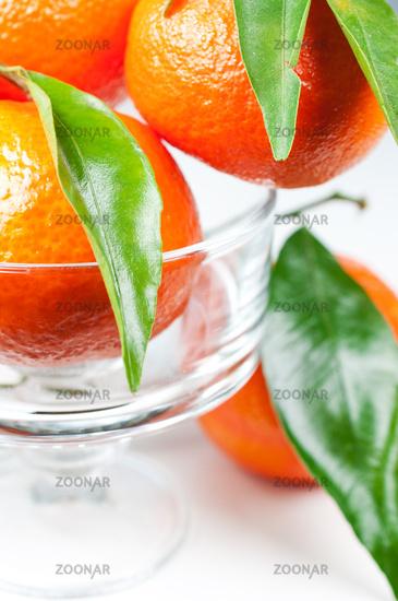 Ваза с мандаринами фото