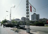 Bushaltestelle in Pjongjang