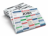 Search job. Newspapers with advertisments.