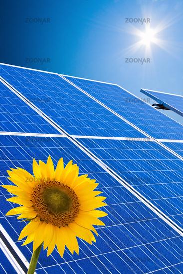 Alternative Solar Energie. Sonnenenergie Kraftwerk