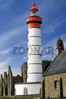 Bretagne: Leuchtturm der Pointe Saint Mathieu