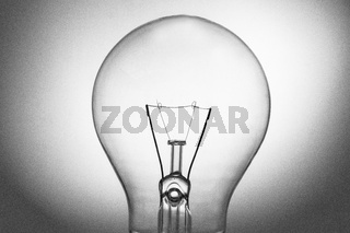 Close up of big clear light bulb