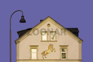 Laterne und Haus