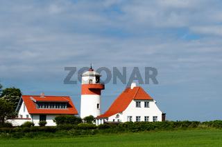 Der Leuchtturm Hov Fyr, Langeland, Dänemark