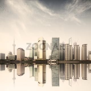 modern office building in shanghai