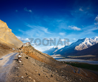Road to Ki Monastery. Spiti Valley