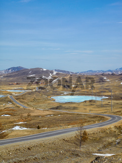 Road in Siberian landscape