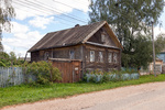 Old wooden house in russian village. Novgorod region, Russia