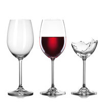 empty, full of wine and broken wineglasses isolated on white