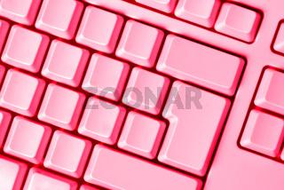 pink keyboard empty