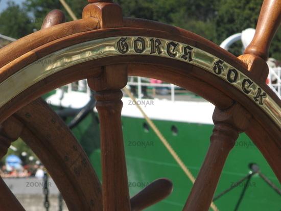 Steuerrad der ,,Gorch Fock