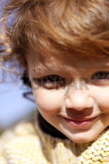 Closeup of adorable little girl