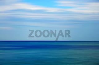 blaues Meer  - Abstrakt