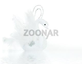 White swan decoration