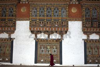 Verzierte Fenster, Klosterburg Phunaka Dzong