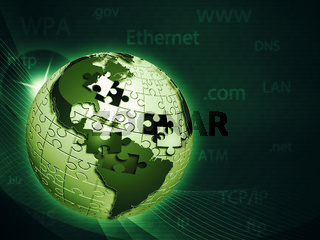 Global information network, abstract techno backgrounds