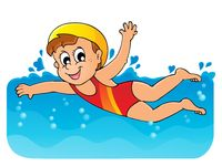 Swimming theme image 1 - picture illustration.