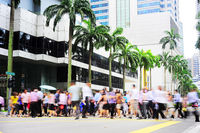 Rush hour in Singapore