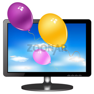 Lsd Tv Monitor With Balloons